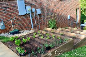 building raised garden beds on a slope