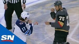 Ryan Reaves And Adam Lowry Hold Heavy Weight Bout After Hit On Alex Tuch -  YouTube