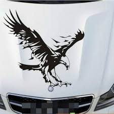 Reflective Personality Engine Hood Eagle Totem Car Stickers Car Body Car Styling Removable Waterproof Stickers Wish