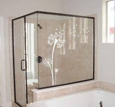 dandelion decal etched glass window