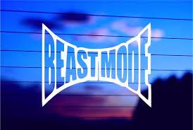 Beastmode Car Decal Sticker