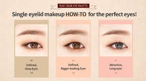 eye makeup for small single eyelids