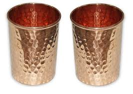 handmade pure copper glass cup for