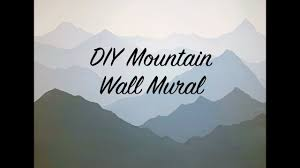 How To Paint A Mountain Mural On Your Bedroom Or Nursery Wall Diy Timelapse Speed Painting Youtube