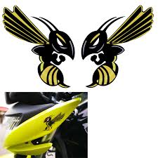 1 Pair Motorcycle Hornet Fairing Helmet Stickers For Honda Angry Bee Hornet Decals Decals Stickers Aliexpress