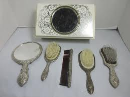 lot vintage brush mirror sets vanity