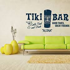 Amazon Com Stickersforlife Wall Decal Vinyl Sticker Decals Aloha Tiki Bar Totem Idol Sign Words Z1335 Home Kitchen