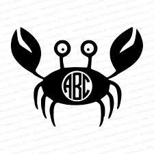 Crab Monogram Vinyl Decal Personalized Gifts Business Promotional Items Custom Printed Clothing Photo Gifts Signs Vehicle Graphics More
