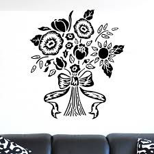Flower Bouquet Bound With Bow Wall Sticker Decal World Of Wall Stickers