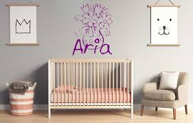 Personalized Name Silhouette Bouquets Of Flowers Wall Decal Sticker Nursery For Home Decor Krafmatics