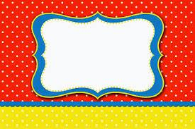 Rojo Amarillo Y Lunares Blancos Invitaciones Para Imprimir
