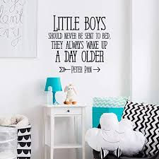 Amazon Com Nursery Vinyl Wall Decal Decor Quote Little Boys Should Never Be Sent To Bed Peter Pan Quote Vinyl Wall Decal Decor Boys Room Decor Vinyl Wall Art Vinyl Wall Decal Decor