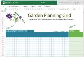 free garden planner template for excel