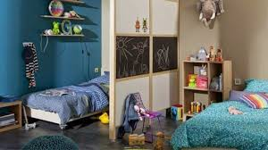 Dividing The Space By A Partition Blackboard Kids Bedroom Ideas Room For Two Kids Kids Shared Bedroom Room Divider Ideas Bedroom