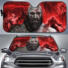 Kratos God Of War Gamer Auto Sun Shade Nh07 100704 Gift Family Friends Fan Idea