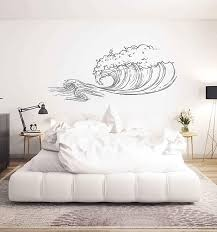 Amazon Com Big Wave Wall Decals Sea Wave Wall Sticker Beach Decor Sea Art Sea Decals For Kids Rooms Wall Graphics For Bedrooms Ik3418 Handmade
