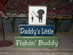 New Boys Daddy S Little Fishing Buddy Wood Sign Blocks Nursery Decor Kids Room Shower Gift Baby Boy Room Decor Fishing Nursery Theme Baby Shower Fishing