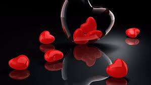 hd wallpaper red hearts love 3d