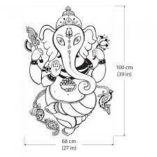 Ganesh Ganesha Hindu God Vinyl Wall Art Decal