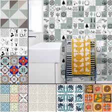 Ukap 10 20 50 100packs Self Adhesive Wall Decal Tile Vinyl Sticker Diy Kitchen Home Decor Moroccan Style Easy Clean Walmart Com Walmart Com