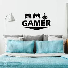 Shop Delicate Gamer Pattern Wall Stickers Removable Art Decal For Living Room Black Overstock 29435559