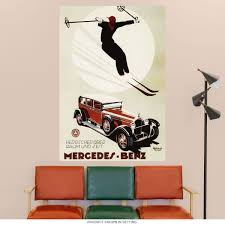 Mercedes Benz Luxury Skiing Wall Decal At Retro Planet