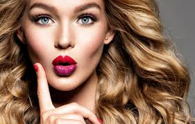makeup lipstick blonde fashion