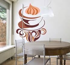 Cappuccino Coffee Illustration Wall Sticker Tenstickers