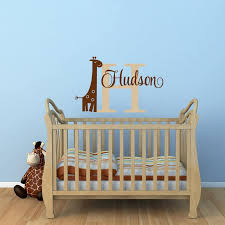 Giraffe Name Wall Decal Personalized Name Decal Giraffe Etsy In 2020 Giraffe Nursery Giraffe Nursery Decor Baby Nursery