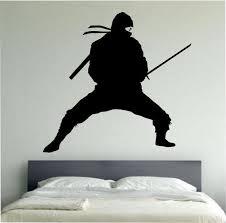 Ninja Wall Decal Ninja Stance Sticker Art From Stateofthewall On