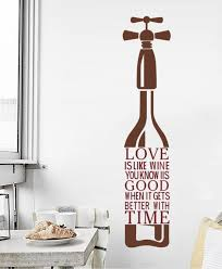 Decalmile Love Is Like Wine Quotes And Sayings Bottle Wall Stickers Removable Wall Decals Murals For Kitchen Dining Room Decalmile Best Home Decoration