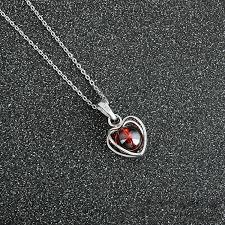 stone pendant necklaces garnet