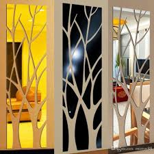 Modern Acrylic Mirror Wall Sticker Removable Decal Art Mural Wall Sticker Home Room Diy Decor Tree Big Wall Stickers Bird Wall Decals From Mirror88 8 9 Dhgate Com