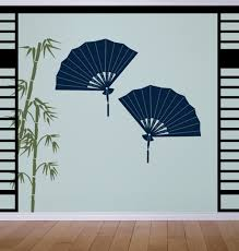 Asian Decorative Fans Wall Decals Stickers