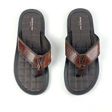 kenneth cole izzo brown leather sandals