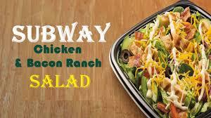 subway en salad calories