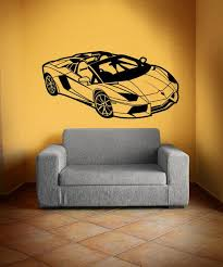 Wall Decal Lamborghiniwall Sticker Carwall Decal Boydecal Etsy
