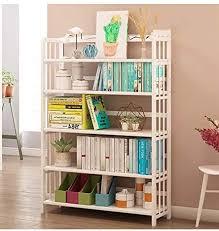 Amazon Com Anju100 White Bookshelf Bookcase Combination Flooring Solid Wood Simple Modern Creative Children S Dormitory Simple Storage Shelf Kids Bookshelf Standing Free Bookself Bookshelf Home Kitchen