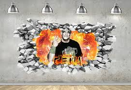 Wwe John Cena 3d Hole In The Wall Effect Wall Sticker Art Decal Mural 1264 Eur 15 49 Picclick Fr