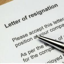 sle resignation email