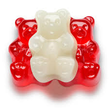 red white valentine gummi bears