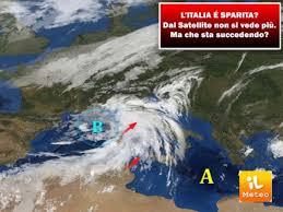 METEO CRONACA DIRETTA: dal SATELLITE non si vede più l'ITALIA ...