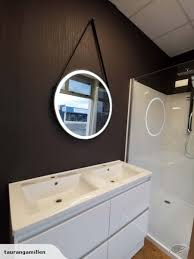 round shape led mirror with demister
