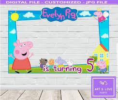 Peppa Pig Cumpleanos Peppa Pig Marco De Foto Invitacion Peppa