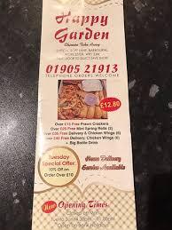 happy garden worcester restaurant
