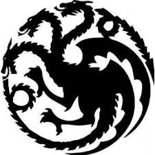 Amazon Com Game Of Thrones House Targaryen Khaleesi Dragons Logo Vinyl Sticker Decal Hbo For Car Truck Mac 5 5 Inches Black Arts Crafts Sewing