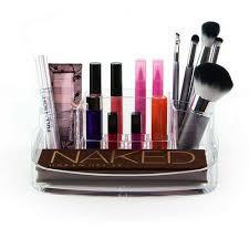 clear acrylic makeup storage organiser