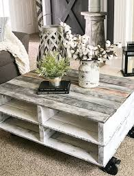 pallet coffee table diy