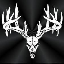 Deer Skull Decal Rack Car Truck Wall Window Vinyl Etsy