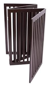 Internets Best Traditional Pet Gate 4 Panel 36 Inch Tall Fence Free Standing Folding Z Shape Indoor Doorway Hall Stairs Indoor Dog Fence Dog Gate Dog Fence